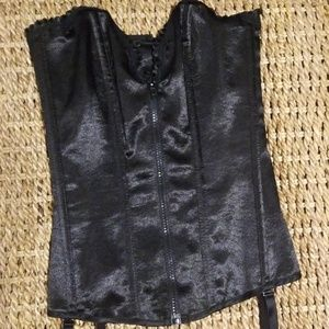 Fredrick's of Hollywood Black Corset Size Small